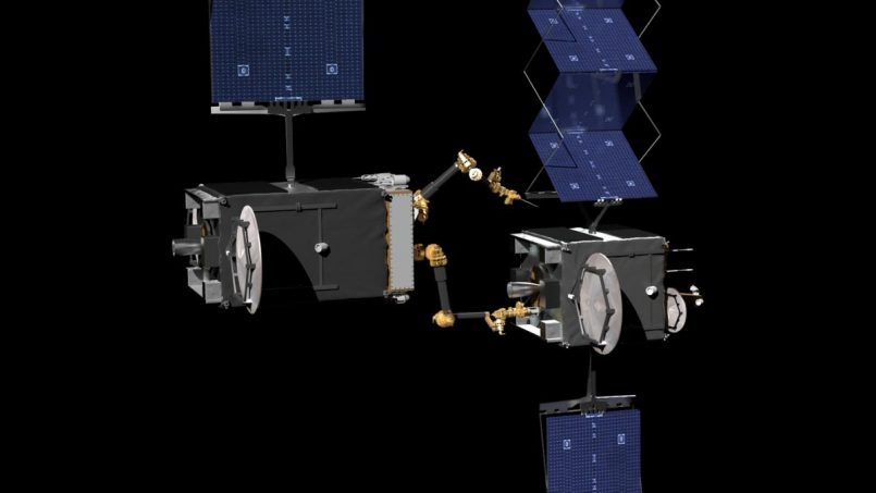 Robot Membaiki Satelit Dibangunkan Oleh DARPA Dengan Kerjasama Northrop Grumman