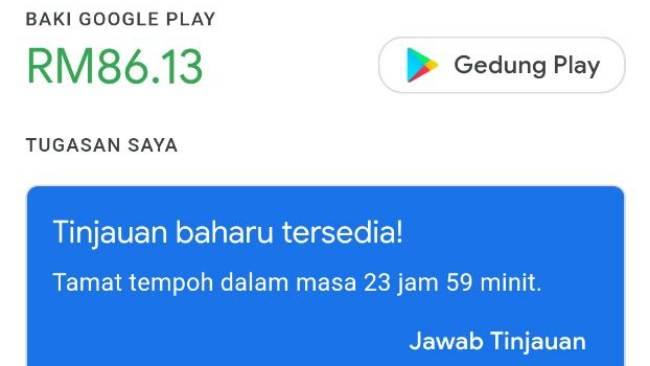 Google Play Opinion Rewards