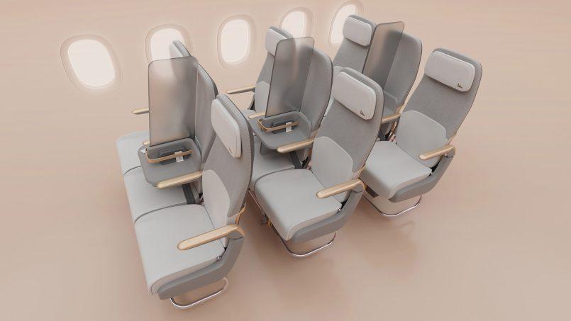 Kit Skrin Penghadang Ini Memudahkan Proses Pembatasan Sosial Dalam Pesawat