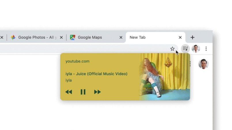 Kawalan Media Akan Hadir Secara Tetingkap Terapung Pada Google Chrome
