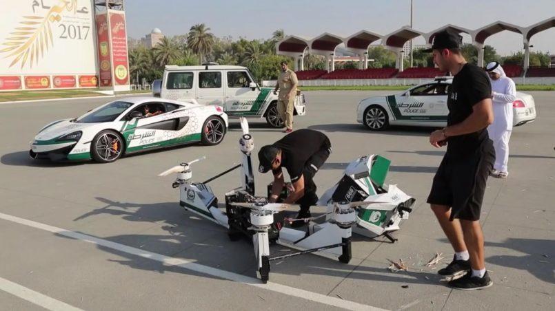 Motosikal Terbang Hoverbike Terhempas Di Dubai