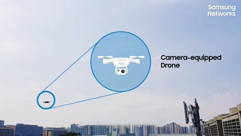 Samsung Menggunakan Dron Dan Kecerdasan Buatan Untuk Memeriksa Menara 5G