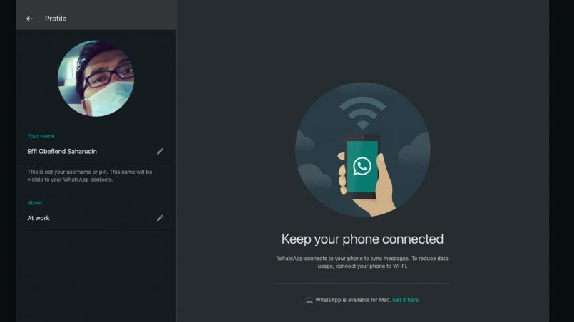 Mod Gelap Untuk WhatsApp Kini Diaktifkan Untuk Semua Pengguna Desktop