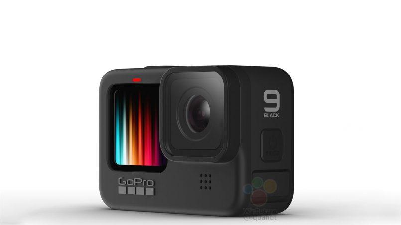 Imej Pengolokan GoPro Hero9 Tertiris – Memperlihatkan Skrin Hadapan Berwarna