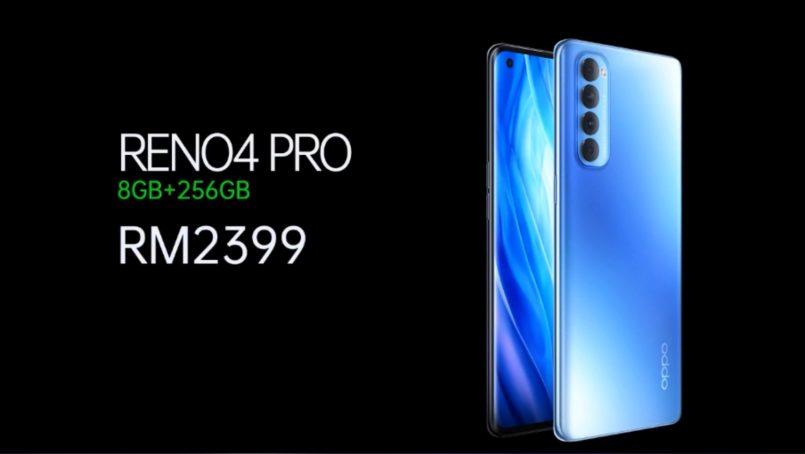 Oppo Reno4 Pro Galactic Blue Berharga RM2399 – Hadir Dengan Kotak Hadiah Eksklusif