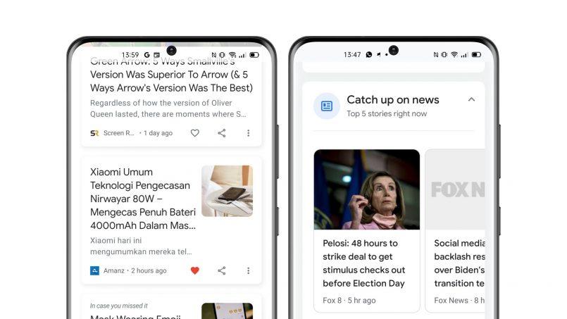 Butang Hati Diperkenalkan Di Google Discover Untuk Berita Kegemaran Dan Berita Kini Muncul Dalam Snapshot