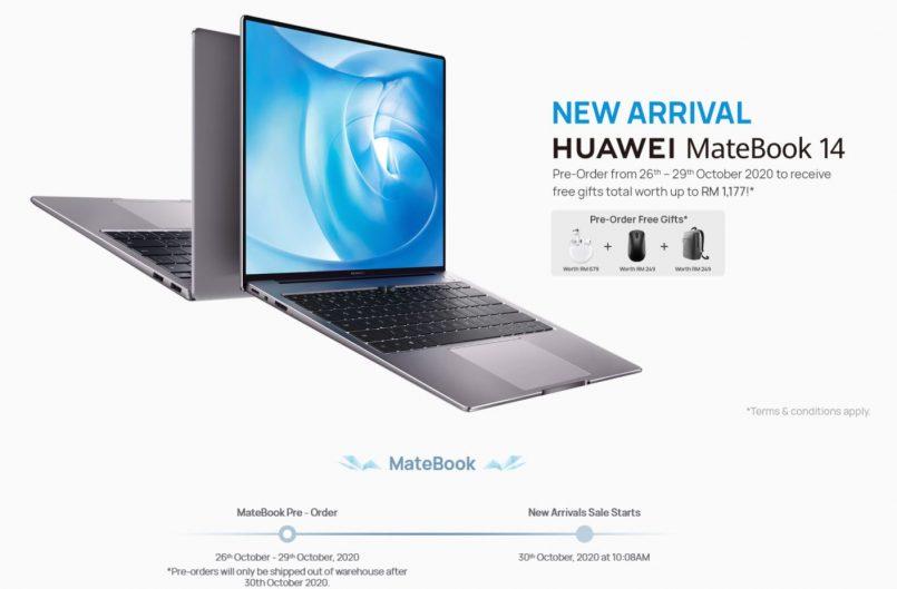 Pra-tempah Huawei Matebook 14 Akan Dibuka Pada 26 Oktober Dengan Harga Permulaan RM3799