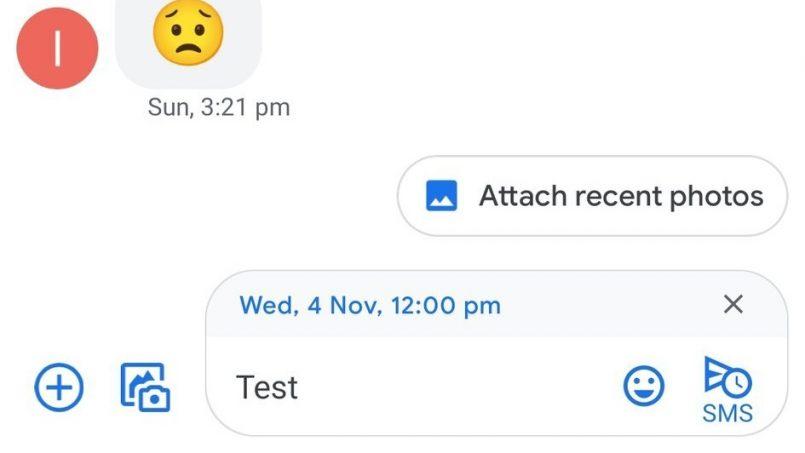 Google Message Menguji Kemampuan Menjadualkan Penghantaran SMS