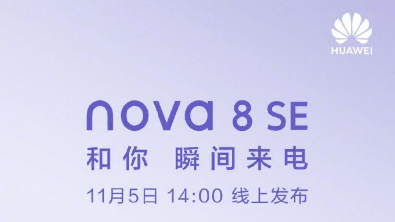 Huawei Nova 8 SE Bakal Diumumkan Pada 5 November 2020