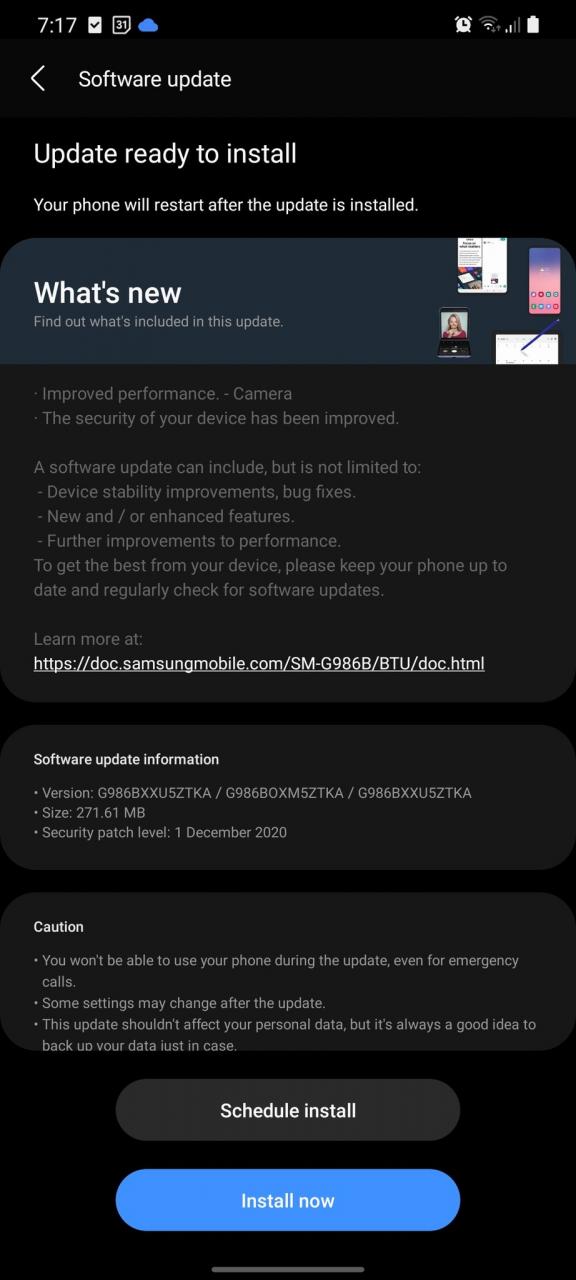 Pengguna Samsung Dengan One UI 3.0 Mula Menerima Kemaskini Sekuriti Disember – Kemaskini Terpantas Setakat Ini? – Amanz 3