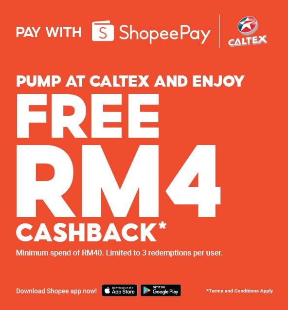 ShopeePay Kini Boleh Digunakan Di Stesen Minyak Caltex – Tawar Pulangan Tunai RM4 Untuk Isian RM40 – Amanz 3