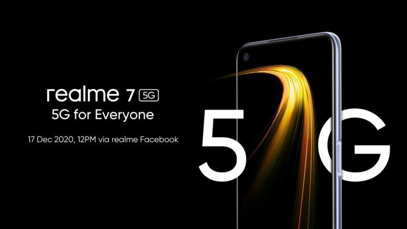 Realme 7 5G Bakal Dilancarkan Di Malaysia Pada 17 Disember 2020