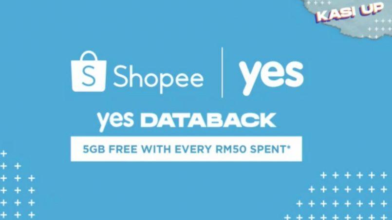 Yes Umum Yes Databack – 5GB Data Percuma Apabila Anda Belanja RM50 Di Shopee