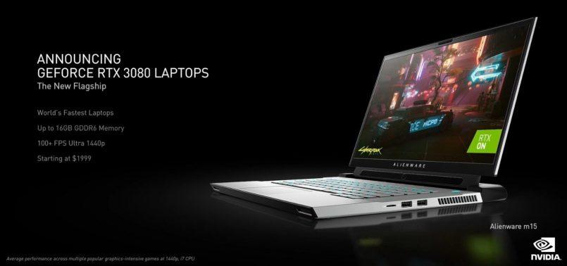 Kad Grafik NVIDIA GeForce RTX 3060, RTX 3070 Dan RTX 3080 Ditawarkan Untuk Komputer Riba