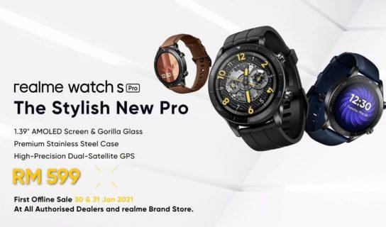 Realme Watch S Pro Kini Di Malaysia – Dijual Pada Harga RM599