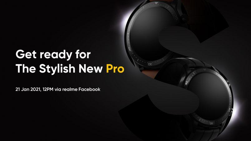 Realme Watch S Pro Bakal Hadir Ke Pasaran Tempatan Pada 21 Januari 2021