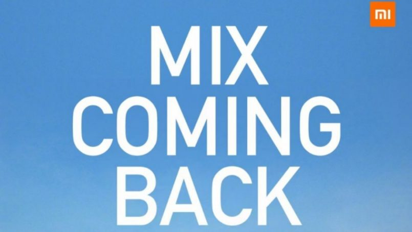 Xiaomi Mi MIX Akan Kembali Pada 29 Mac Ini