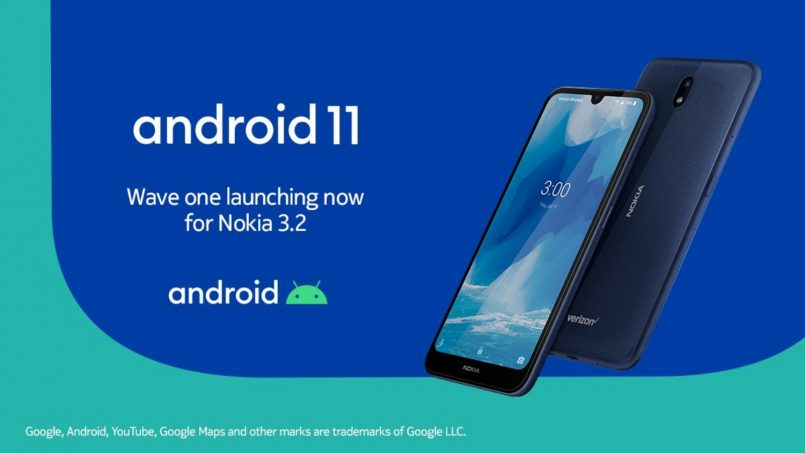 Nokia 3.2 Menerima Kemaskini Android 11