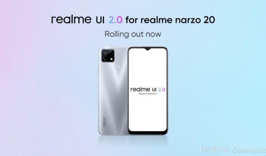Realme Narzo 20 Mula Menerima Kemaskini Android 11