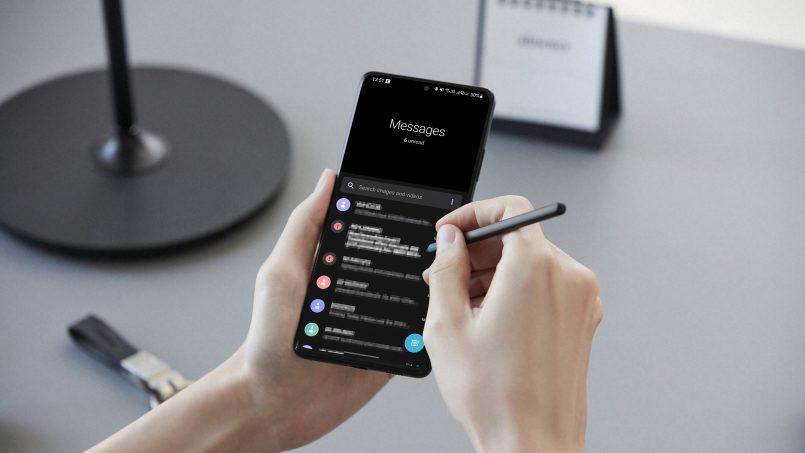 Aplikasi Google Message Menggunakan Antaramuka Mirip One UI Pada Peranti Samsung