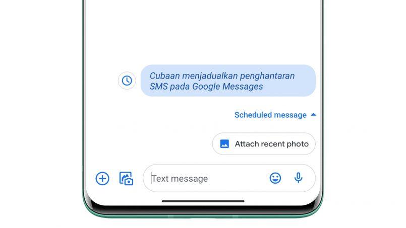 Penghantaran SMS Menggunakan Google Messages Kini Boleh Dijadualkan