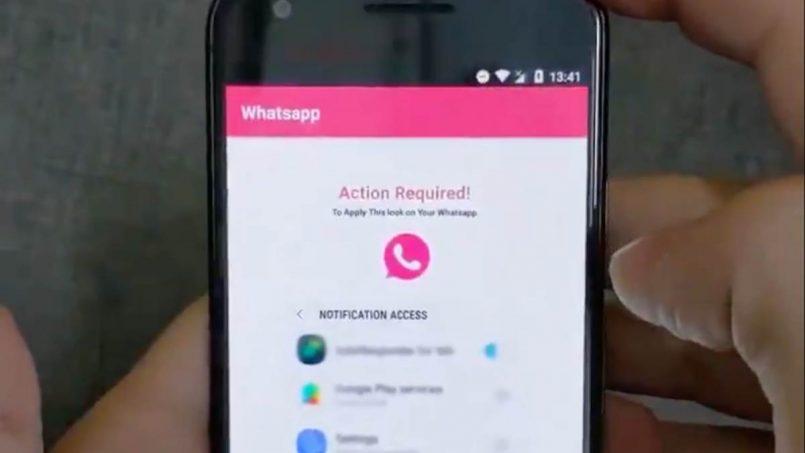 WhatsApp Pink