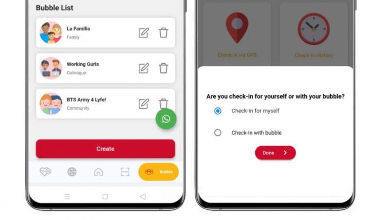 Ciri Bubble Aplikasi Selangkah Memudahkan Imbasan Kod QR MySejahtera Secara Berkumpulan