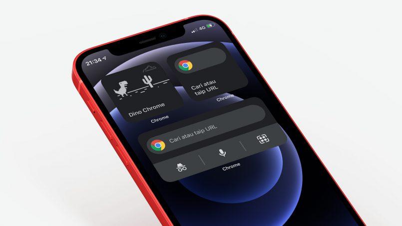 Anda Kini Boleh Akses Permainan Dinasaur Chrome Melalui Widget Pada iOS
