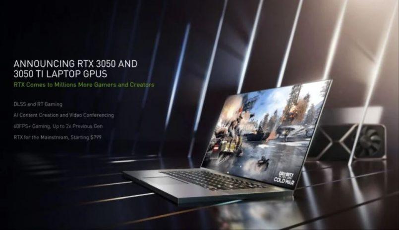NVIDIA Melancarkan Siri Kad Grafik NVIDIA GeForce RTX 3050 Dan RTX 3050Ti Khas Untuk Komputer Riba Gaming Dan Produktiviti