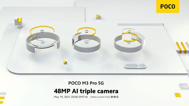 Poco M3 Pro 5G Akan Mempunyai Sistem Tri-Kamera Dengan Lensa Utama 48MP