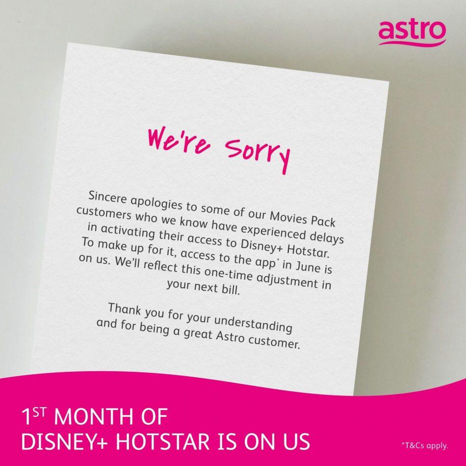 Langganan Disney+ Hotstar Bulan Jun Percuma Untuk Pelanggan Astro Movie Pack