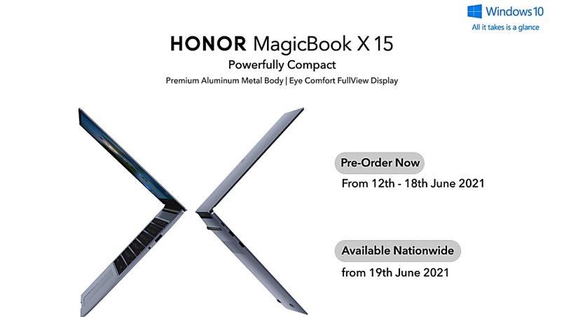 Honor MagicBook X 15 Ditawarkan Di Malaysia Pada Harga Bermula RM2299