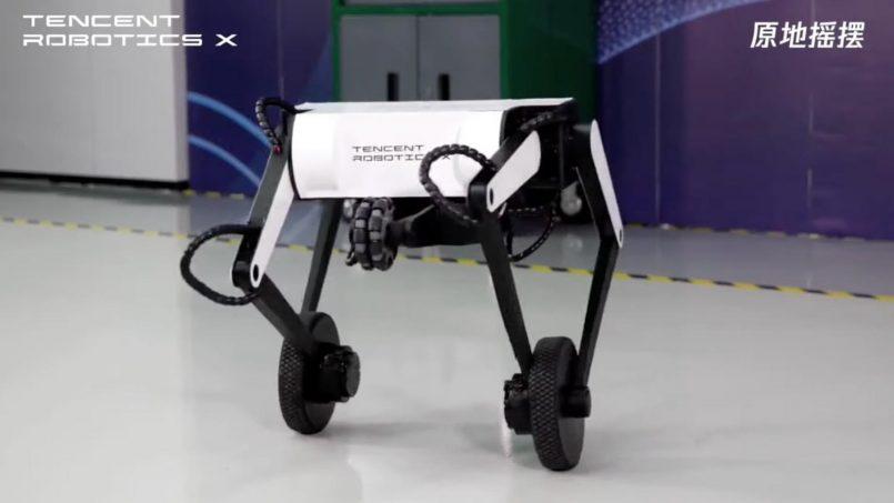 Tencent Memperlihatkan Robot Beroda Yang Boleh Melakukan Balik Kuang