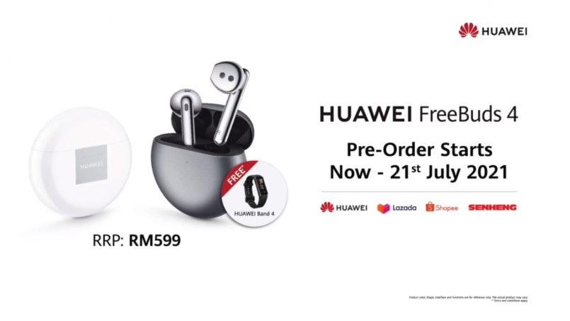 Fon Telinga Huawei FreeBuds 4 Juga Rasmi Di Malaysia – Berharga RM599