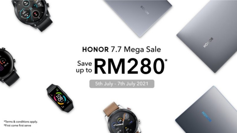 Nikmati Potongan Harga Sehingga RM280 Untuk Pembelian Produk Honor Terpilih Bersempena Jualan 7.7