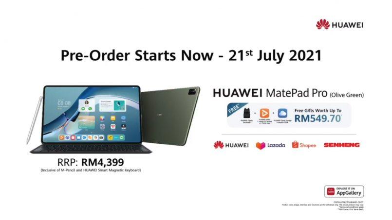Huawei MatePad Pro 12.6″ Kini Ditawarkan Dalam Pilihan Warna Olive Green – Berharga RM4399
