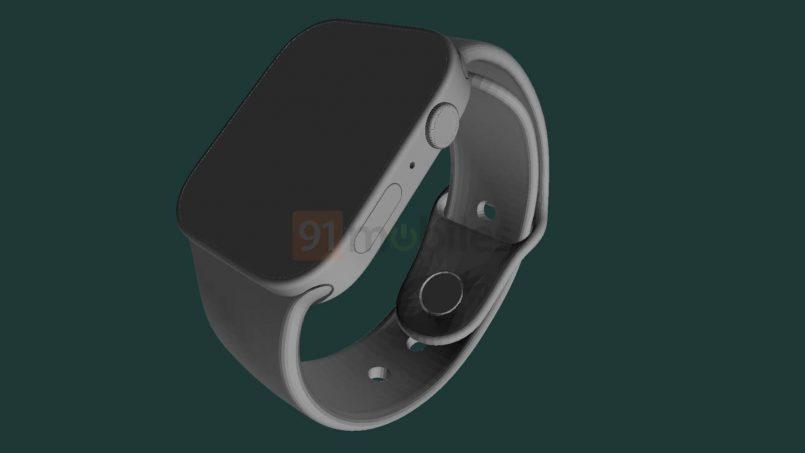 Lukisan CAD Apple Watch Series 7 Tertiris Menunjukkan Tubuh Yang Lebih Rata