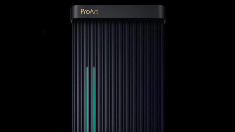 ASUS ProArt Station PD5 Dilengkapi Lampu Khas Menunjukkan Ia Sedang Memproses Kerja