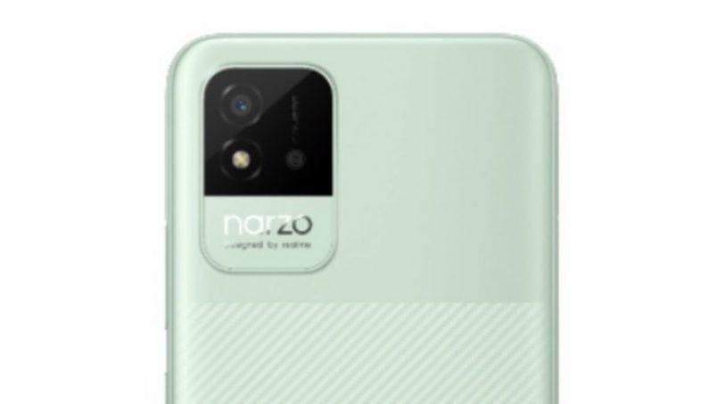 Rekaan Realme Narzo 50i Tertiris Menunjukkan Penggunaan Satu Kamera Di Belakang