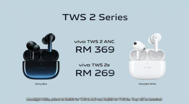 Fon Telinga Vivo TWS 2 Dan TWS 2e Turut Ditawarkan Di Malaysia – Harga Bermula RM269