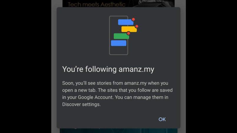 Chrome Versi Android Kini Menyokong Ciri Follow Untuk Mengikuti Suapan RSS Laman Web
