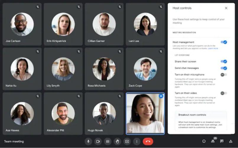 Google Meet Kini Mengaktifkan Ciri Hos Membisukan Mikrofon Dan Video Peserta